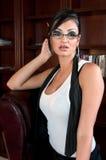 Sensual Secretary at work Stock Image