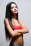Sensual slender brunette woman. Stock Photo