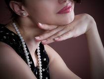 Sensual smile of a young woman Royalty Free Stock Photos