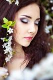 Sensual spring portrait Stock Photos