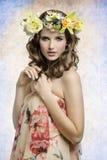 Sensual spring woman stock photo