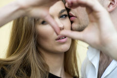 Sensual tender couple Royalty Free Stock Photography