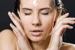 Sensual wet woman Royalty Free Stock Images
