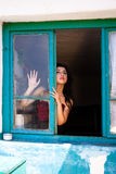 Sensual window lady Royalty Free Stock Images