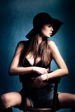 Sensual woman stock images
