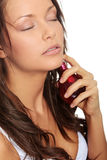 Sensual woman applying perfume on her body Royalty Free Stock Photo