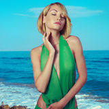 Sensual woman on the beach Royalty Free Stock Image