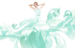 Sensual woman in beautiful green dress Stock Photography