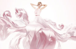 Sensual woman in beautiful pink dress Royalty Free Stock Images
