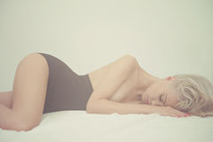 Sensual woman in bed Royalty Free Stock Image