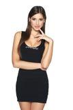 Sensual woman in black mini dress Royalty Free Stock Image