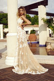 Sensual woman with blond hair in luxurious lace dress stock images