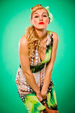 Sensual woman with blonde hair. Pin up style Stock Image