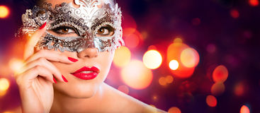 Sensual Woman With Carnival Mask Stock Photo