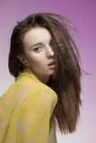 Sensual woman with dishevelled hair-style Stock Images
