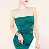 Sensual woman in evening dress Stock Photo