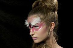 Sensual woman with glamour makeup and hairstyle Stock Photography