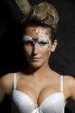 Sensual woman with glamour makeup and hairstyle Royalty Free Stock Photos