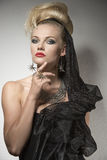 Sensual woman in Halloween portrait Royalty Free Stock Images