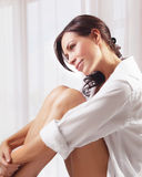 Sensual woman at home Stock Photography