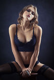 Sensual woman in lingerie Stock Images