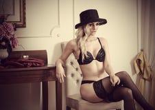 Sensual woman lingerie vintage Stock Image