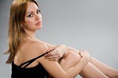 Sensual woman with long eyelashes Royalty Free Stock Photos