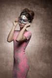 Sensual woman with mask royalty free stock photography