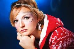 Sensual woman model with frozen makeup Stock Photos