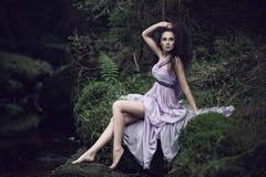 Sensual woman in nature scenery Stock Photo