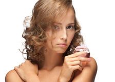 Sensual woman with perfume Royalty Free Stock Photography