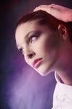 Sensual woman portrait. Fashion model, close up Royalty Free Stock Photos