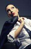 Sensual woman portrait, fashion model Royalty Free Stock Photos