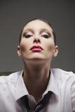 Sensual woman portrait. Fashion model Royalty Free Stock Image