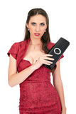 Sensual woman in red dress Royalty Free Stock Image