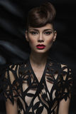 Sensual woman with red lips Royalty Free Stock Photo