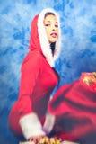 Sensual woman santa claus Royalty Free Stock Image