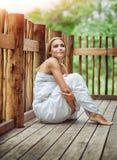 Sensual woman on spa resort Stock Image