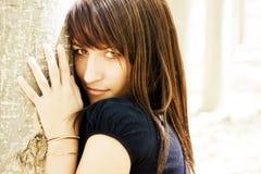 Sensual woman staring at camera. Young sensual woman staring at camera Royalty Free Stock Images