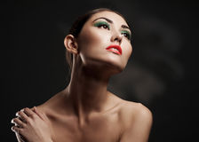 Sensual woman with stylish makeup Royalty Free Stock Photography