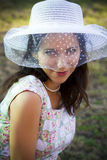 Sensual woman in the summer season Stock Photography