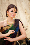 Sensual woman in traditional indian dress Royalty Free Stock Photography