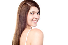 Sensual woman wearing a bright smile Royalty Free Stock Photo