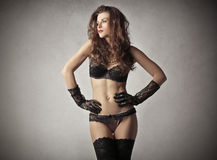 Sensual woman wearing lingerie Royalty Free Stock Photo