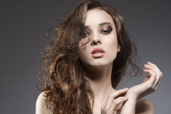 Sensual woman with wet hair Stock Photo
