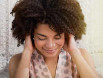 Sensual young African woman stock image