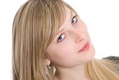 Sensual young blonde woman Stock Images