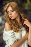 Sensual young  blonde woman Royalty Free Stock Images