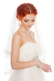 Sensual young bride Royalty Free Stock Images