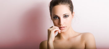 Sensual young brunette. Stock Image